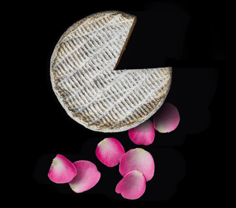 Tomme Fruitée Le Rustique & Confit de pétales de roses